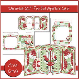 December 25th Pop Out Aperture Card - The Printable Craft Shop