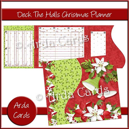 Deck The Halls Printable Christmas Planner Printable