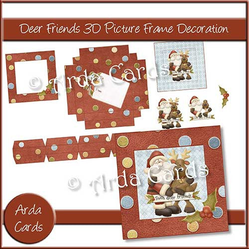 Deer Friends 3D Picture Frame Printable Decorations - The Printable Craft Shop