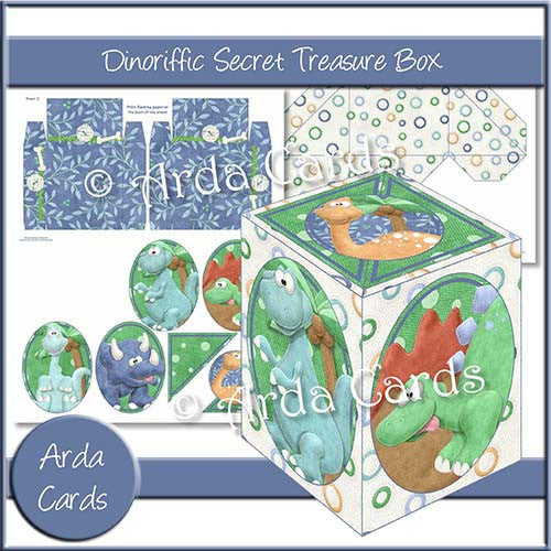 Dinoriffic Secret Treasure Box - The Printable Craft Shop
