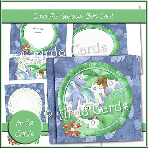 Dinoriffic Shadow Box Card - The Printable Craft Shop