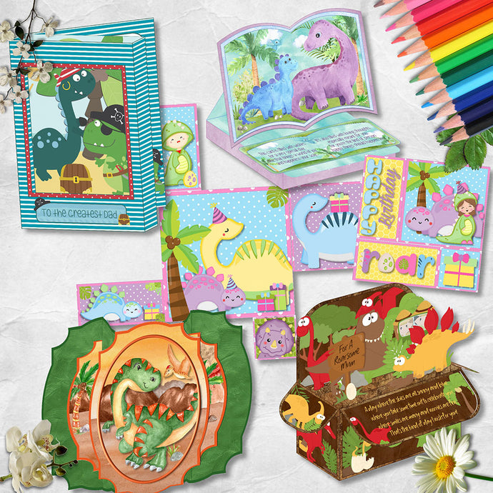 Dinosaur Themed Card Bundle