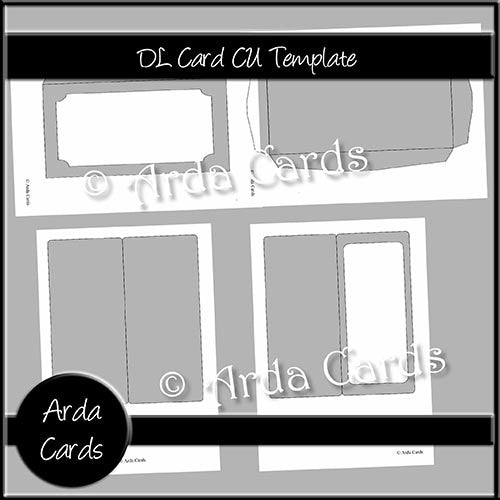 DL Card CU Template - The Printable Craft Shop