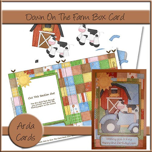 Down On The Farm Box Card - The Printable Craft Shop