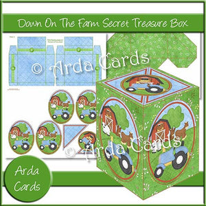 Down On The Farm Secret Treasure Box - The Printable Craft Shop