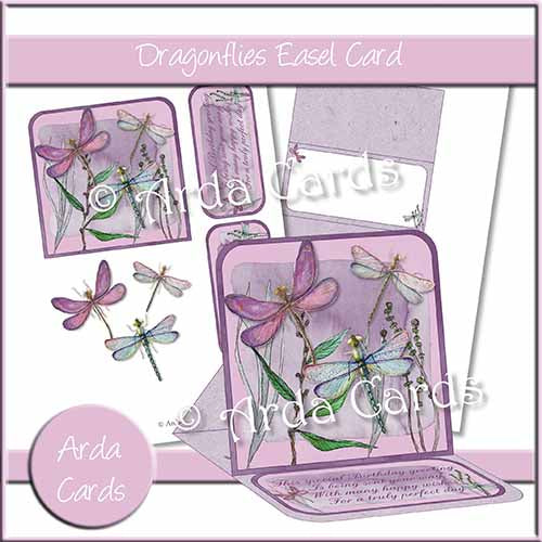 Dragonflies Easel Card