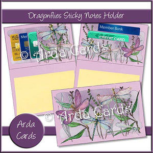 Dragonflies Sticky Notes Holder