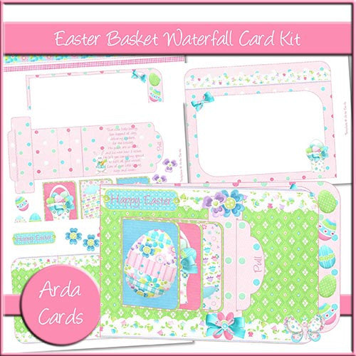 Easter Basket Waterfall Card Kit - The Printable Craft Shop