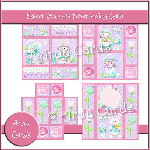 Easter Bonnets Neverending Card - The Printable Craft Shop - 1