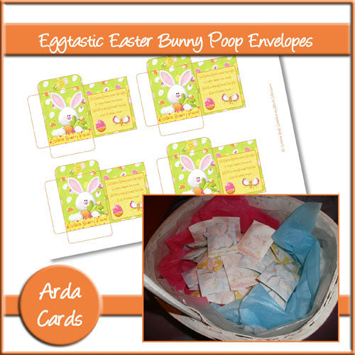 Eggtastic Easter Bunny Poop Envelopes - The Printable Craft Shop
