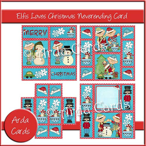 Elfis Loves Christmas Neverending Card - The Printable Craft Shop