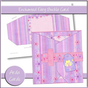 Enchanted Fairy Buckle Card - The Printable Craft Shop