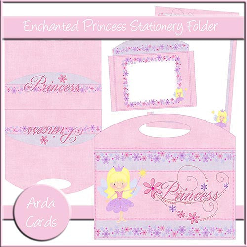 Enchanted Princess Stationery Folder - The Printable Craft Shop