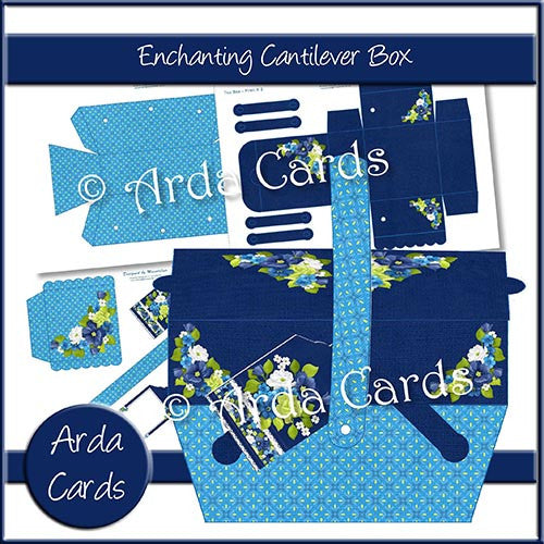Enchanting Flowers Cantilever Box - The Printable Craft Shop