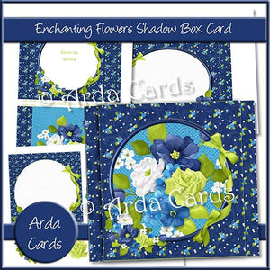 Enchanting Flowers Shadow Box Card - The Printable Craft Shop