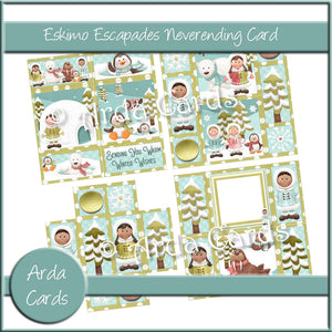 Eskimo Escapades Neverending Card Printable