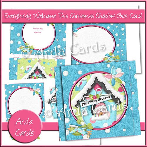 Everybirdy Welcome Shadow Box Card - The Printable Craft Shop