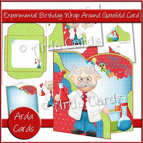 Experimental Birthday Wrap Around Gatefold Card - The Printable Craft Shop