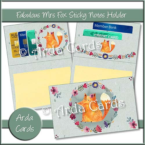 Fabulous Mrs Fox Sticky Notes Holder