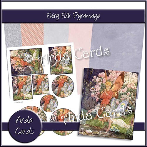 Fairy Folk Pyramage Set - The Printable Craft Shop