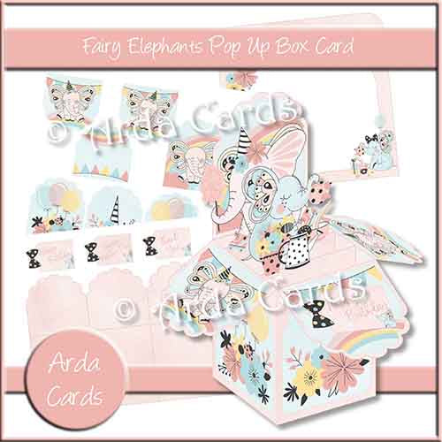 Fairy Elephants Pop Up Box Card