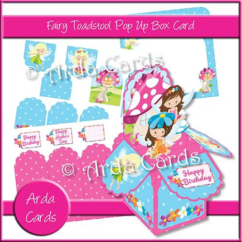 Fairy Toadstool Pop Up Box Card