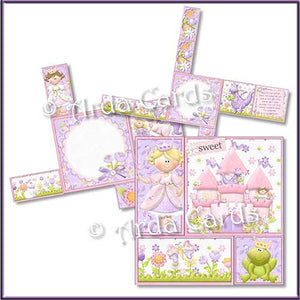Fairytale Dreams 4 Fold Flap Card - The Printable Craft Shop - 2