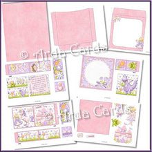 Load image into Gallery viewer, Fairytale Dreams 4 Fold Flap Card - The Printable Craft Shop