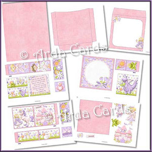 Fairytale Dreams 4 Fold Flap Card - The Printable Craft Shop