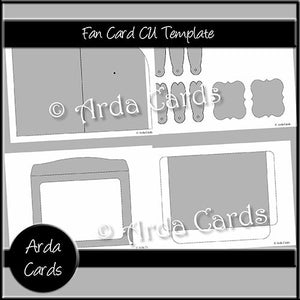 Fan Card CU Template - The Printable Craft Shop