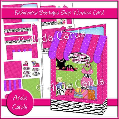 Fashionista Boutique Shop Window Card