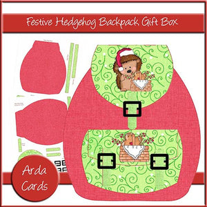 Festive Hedgehog Backpack Gift Box - The Printable Craft Shop