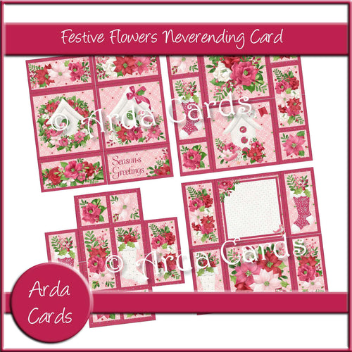 Festive Flowers Neverending Card