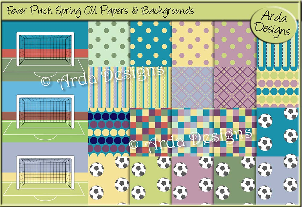 Fever Pitch Spring CU Papers & Backgrounds