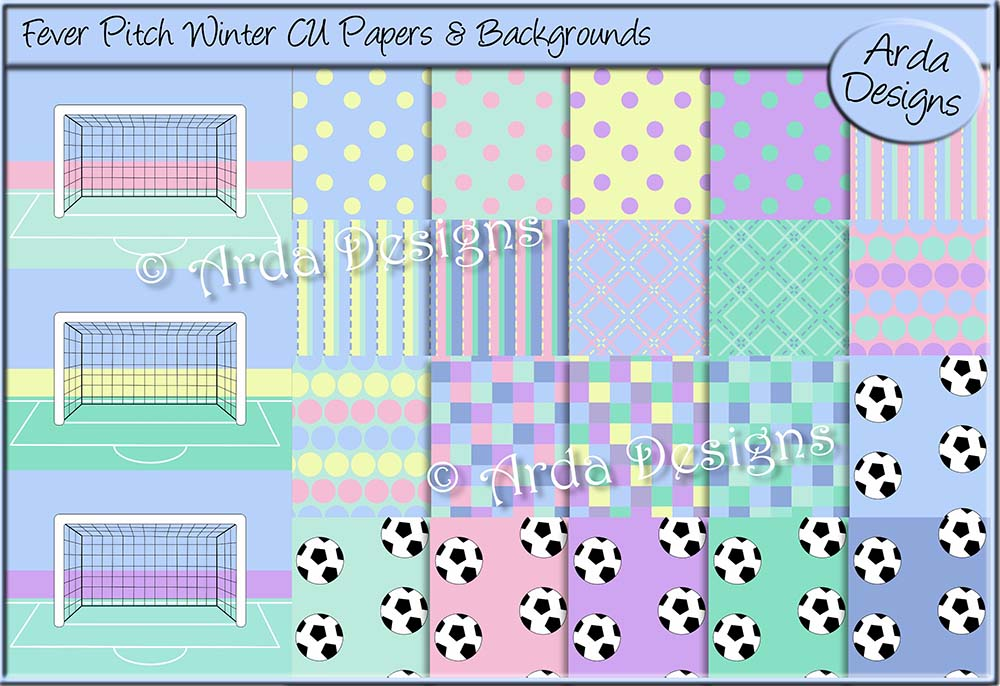 Fever Pitch Winter CU Papers & Backgrounds