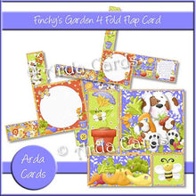 Load image into Gallery viewer, Finchy's Garden 4 Fold Flap Card - The Printable Craft Shop - 1