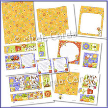 Load image into Gallery viewer, Finchy's Garden 4 Fold Flap Card - The Printable Craft Shop - 3