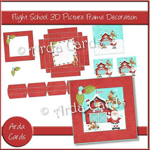 Flight School 3D Picture Frame Printable Decoration - The Printable Craft Shop