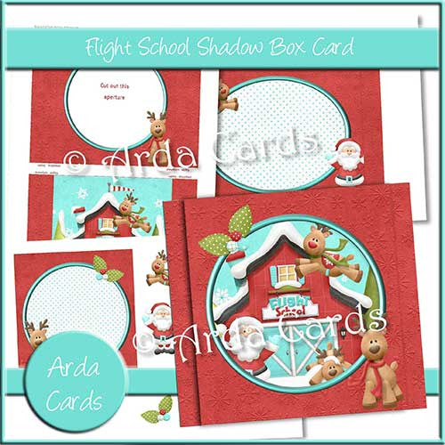 Flight School Shadow Box Card - The Printable Craft Shop
