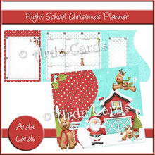 Load image into Gallery viewer, Flight School Printable Christmas Planner