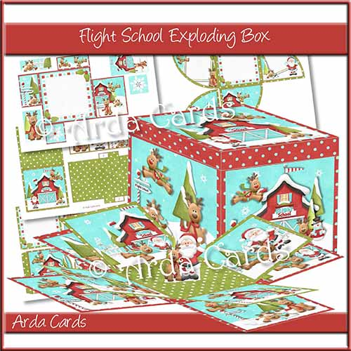 Flight School Exploding Box Printable