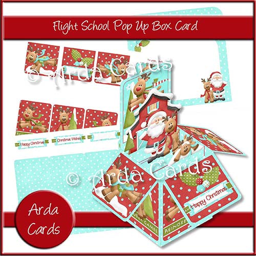 Flight School Pop Up Box Card