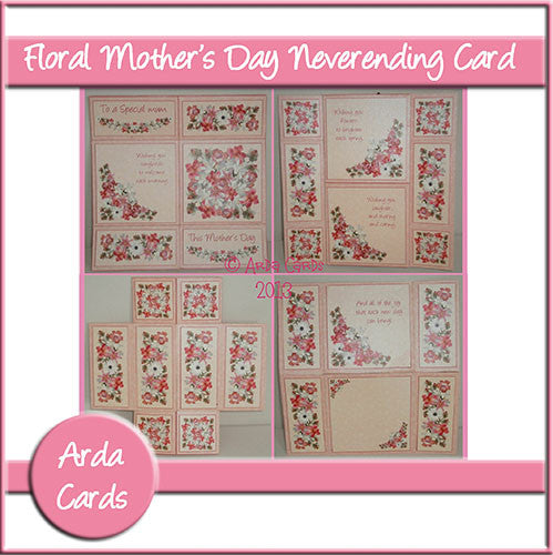 Floral Mother's Day Neverending Card - The Printable Craft Shop
