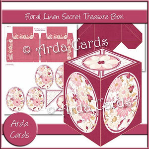 Floral Linen Secret Treasure Box - The Printable Craft Shop