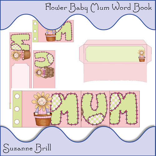 Flower Baby Mum Word Book - The Printable Craft Shop