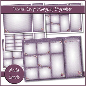 Flower Shop Hanging Organiser - The Printable Craft Shop