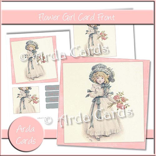 Flower Girl Card Front - The Printable Craft Shop