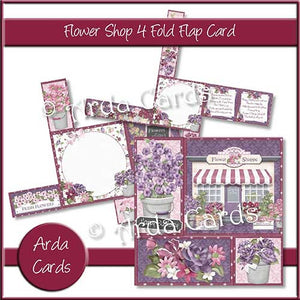 Printable 4 Fold Flap Card Bundle - The Printable Craft Shop - 6