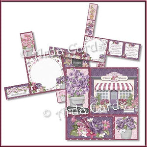 Flower Shop 4 Fold Flap Card - The Printable Craft Shop - 2