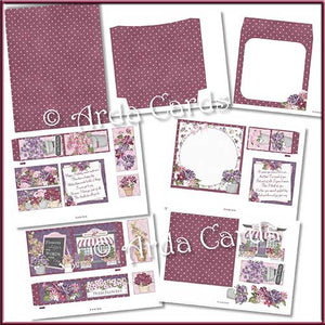 Flower Shop 4 Fold Flap Card - The Printable Craft Shop